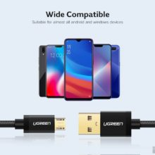 Micro Nylon USB Charging Cord for Android Mobile Phone